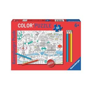 """Ravensburger (10760) - """"Paris"""" - 80 pieces puzzle"""