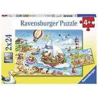 "Ravensburger (07829) - ""Holidays at the Sea"" - 24 pieces puzzle"