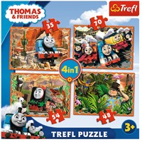 "Trefl (34300) - ""Travels around the world"" - 35 48 54 70 pieces puzzle"
