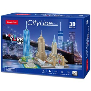 "Cubic Fun (MC255h) - ""New York"" - 123 pieces puzzle"