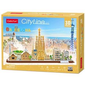 "Cubic Fun (MC256h) - ""Barcelona"" - 186 pieces puzzle"