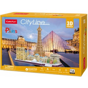 """Cubic Fun (MC254h) - """"Paris"""" - 114 pieces puzzle"""