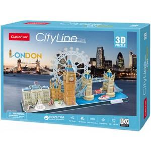 """Cubic Fun (MC253h) - """"London"""" - 107 pieces puzzle"""