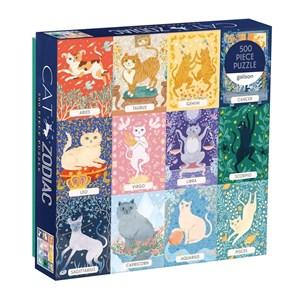 """Chronicle Books / Galison (9780735357068) - """"Cat Zodiac"""" - 500 pieces puzzle"""