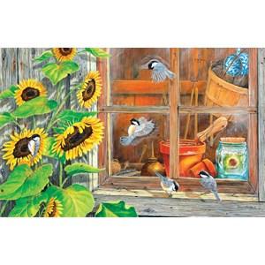 """SunsOut (24624) - Carol Decker: """"Sunflower Shed"""" - 1000 pieces puzzle"""