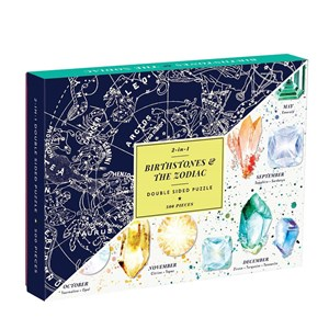 """Chronicle Books / Galison (9780735354258) - """"Cosmos Birthstones & The Zodiac"""" - 500 pieces puzzle"""