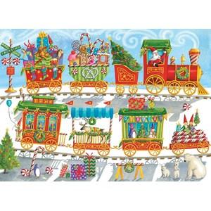 """Cobble Hill (54608) - """"Christmas Train"""" - 350 pieces puzzle"""