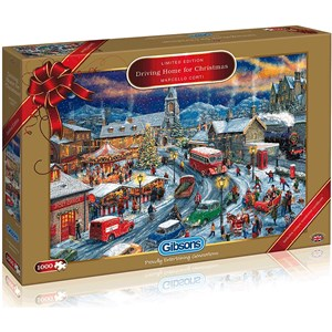 "Gibsons (G2018) - Marcello Corti: ""Driving Home For Christmas"" - 1000 pieces puzzle"