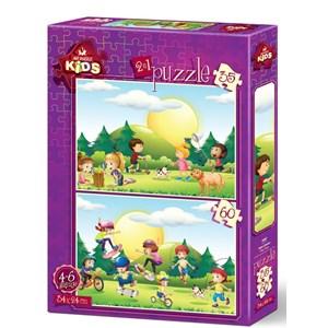 """Art Puzzle (4497) - """"Kids"""" - 35 60 pieces puzzle"""
