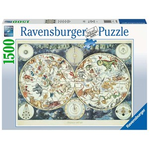 """Ravensburger (16003) - """"World Map of Fantastic Beasts"""" - 1500 pieces puzzle"""