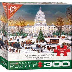 """Eurographics (8300-5403) - """"Christmas at the Capitol"""" - 300 pieces puzzle"""