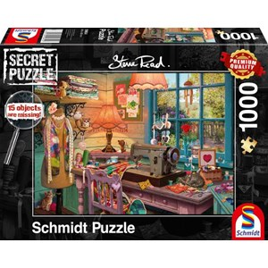 "Schmidt Spiele (59654) - Steve Read: ""In the sewing room"" - 1000 pieces puzzle"