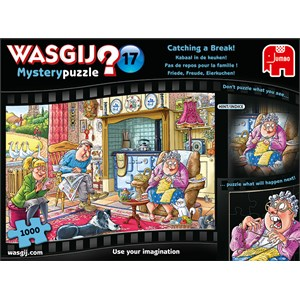"""Jumbo (19175) - """"Wasgij Mystery 17, Catching A Break"""" - 1000 pieces puzzle"""