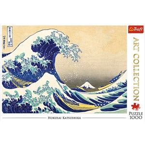 """Trefl (10521) - Hokusai: """"The Great Wave"""" - 1000 pieces puzzle"""