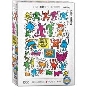 "Eurographics (6000-5513) - Keith Haring: ""Collage"" - 1000 pieces puzzle"