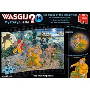 """Jumbo (19158) - """"Mystery 14, The Hound of Wasgijville"""" - 1000 pieces puzzle"""