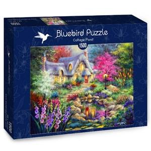 "Bluebird Puzzle (70060) - Nicky Boehme: ""Cottage Pond"" - 1500 pieces puzzle"