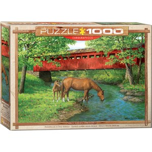 "Eurographics (6000-0834) - Persis Clayton Weirs: ""Sweet Water Bridge"" - 1000 pieces puzzle"