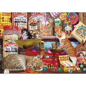 "Gibsons (G6237) - Steve Read: ""Paw Drops & Sugar Mice"" - 1000 pieces puzzle"