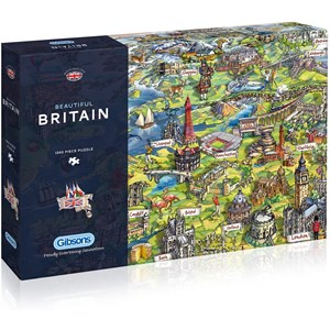 """Gibsons (G7080) - Maria Rabinsky: """"Beautiful Britain"""" - 1000 pieces puzzle"""