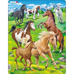 """Larsen (FH38) - """"Horses in a Mountain Field"""" - 65 pieces puzzle"""