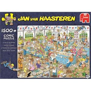 """Jumbo (19077) - Jan van Haasteren: """"Clash of the Bakers"""" - 1500 pieces puzzle"""
