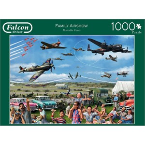 "Falcon (11195) - Marcello Corti: ""Family Airshow"" - 1000 pieces puzzle"
