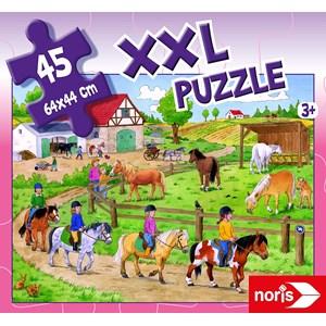 "Noris (606031790) - ""Holidays on The Ponyhof"" - 45 pieces puzzle"