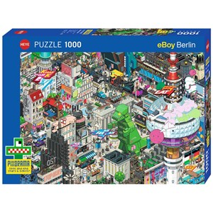 "Heye (29915) - eBoy: ""Berlin Quest"" - 1000 pieces puzzle"