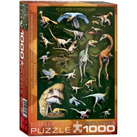 "Eurographics (6000-0072) - ""Feathered Dinosaurs"" - 1000 pieces puzzle"