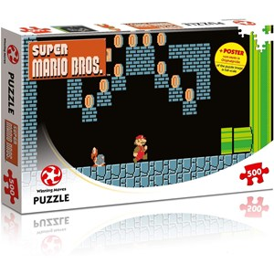 "Winning Moves Games (WIN11491) - ""Super Mario Bros., Underground Adventures"" - 500 pieces puzzle"