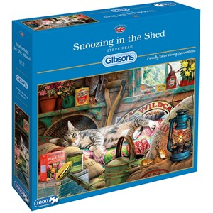 "Gibsons (G6248) - Steve Read: ""Snoozing in The Shed"" - 1000 pieces puzzle"