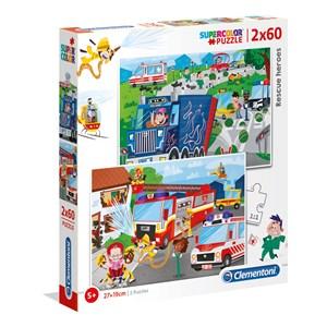 """Clementoni (21602) - """"Rescue Heroes"""" - 60 pieces puzzle"""