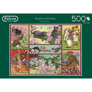 "Falcon (11211) - Sarah Adams: ""Playful Kittens"" - 500 pieces puzzle"