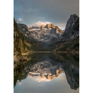"Piatnik (5493) - ""Mountain Scene Dachstein"" - 1000 pieces puzzle"