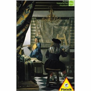 "Piatnik (5640) - Johannes Vermeer: ""Artist Studio"" - 1000 pieces puzzle"