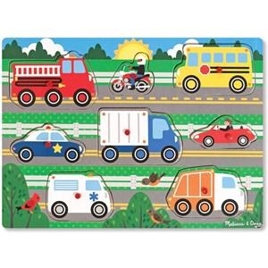 "Melissa and Doug (19051) - ""Vehicles"" - 8 pieces puzzle"