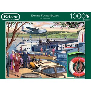 "Falcon (11194) - Victor McLindon: ""Empire Flying Boats"" - 1000 pieces puzzle"