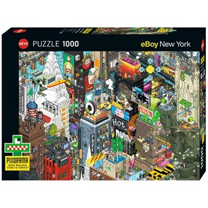 "Heye (29914) - eBoy: ""New York Quest"" - 1000 pieces puzzle"