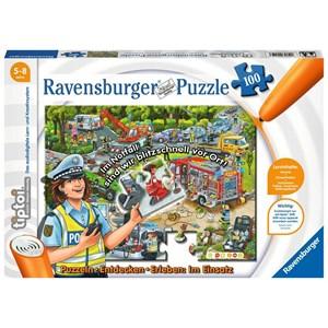 """Ravensburger (00554) - """"Entdecken, Erleben, im Einsatz (German)"""" - 100 pieces puzzle"""