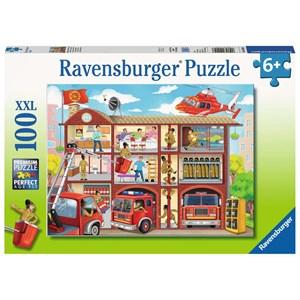 """Ravensburger (10404) - """"Fire Station"""" - 100 pieces puzzle"""