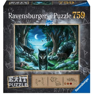 "Ravensburger (15028) - ""EXIT The Curse of the Wolves (in German)"" - 759 pieces puzzle"
