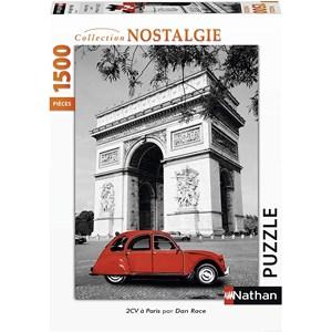 """Nathan (87797) - """"Citroën 2 CV in Paris"""" - 1500 pieces puzzle"""