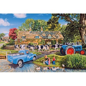 "Gibsons (G2715) - ""Milk On The Move"" - 250 pieces puzzle"