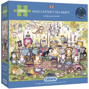"Gibsons (G2717) - Linda Jane Smith: ""Mad Catter's Tea Party"" - 250 pieces puzzle"
