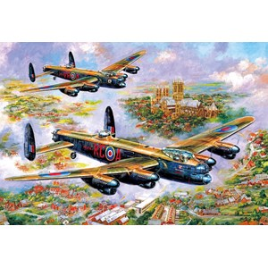 "Gibsons (G3113) - Jim Mitchell: ""Lancasters Over Lincoln"" - 500 pieces puzzle"