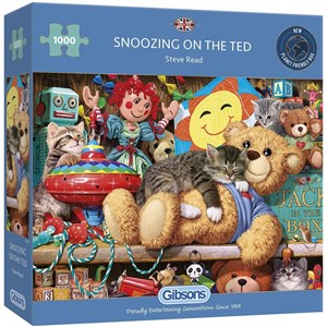 "Gibsons (G6281) - Steve Read: ""Snoozing on the Ted"" - 1000 pieces puzzle"