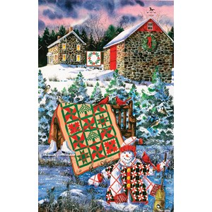 "SunsOut (14634) - Diane Phalen: ""A Christmas Cheer Quilt"" - 1000 pieces puzzle"