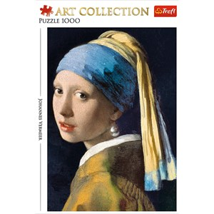 """Trefl (10522) - Johannes Vermeer: """"Girl with a pearl earring"""" - 1000 pieces puzzle"""
