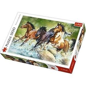 "Trefl (26148) - ""Three Wild Horses"" - 1500 pieces puzzle"